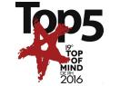 """""""Top 5 – Top of Mind de RH"""" na categoria Consultoria de Benefícios, pelo 3º ano consecutivo"""