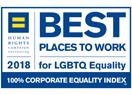 """Best Place to Work for LGBT Equality"" pela Human Rights Campaign"