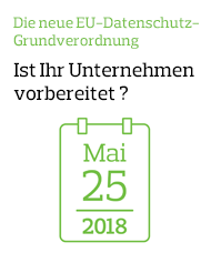 Am 25. Mai 2018 tritt die EU-Datenschutz-Grundverordnung (General Data Protection Regulation = GDPR) in Kraft.