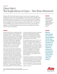 Client Alert: The Implications of Cyan – Two Years Removed