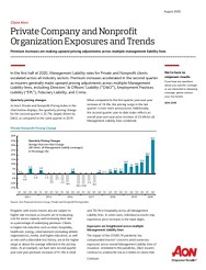 FSG Client Alert - Private Company and Nonprofit Organization Exposures and Trends