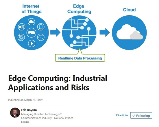 Edge Computing: Industrial Applications and Risks