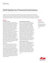 2018 Update for Financial Institutions