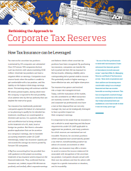 Corporate Tax Reserves Report
