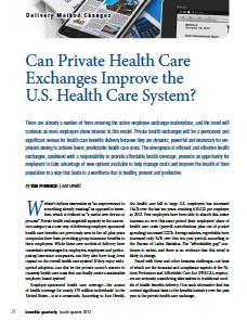 Can Private Health Care Exchanges Improve the U.S. Health Care System?