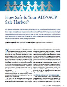 How Safe Is Your ADP/ACP Safe Harbor?