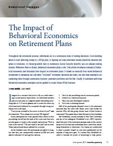 2The Impact of Behavorial Economics on Retirement Plans