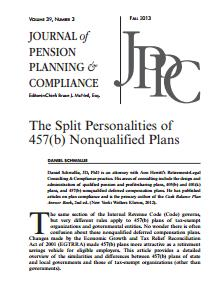 The Split Personalities of 457(b) Nonqualified Plans