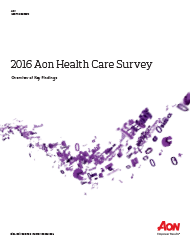 2016 Aon Health Care Survey
