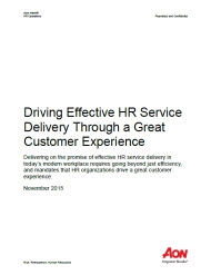 Driving Effective HR Service Delivery