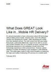 Mobile HR Delivery