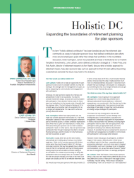 Holistic DC: Expanding the Boundaries of Retirement Planning for Plan Sponsors