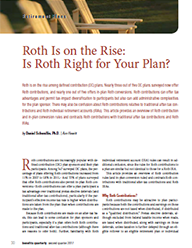 Roth Is on the Rise: Is Roth Right for Your Plan?