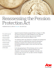 Reassessing the Pension Protection Act