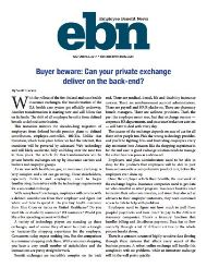 Buyer beware: Can your private exchange deliver on the back-end?