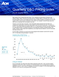 D&O pricing index