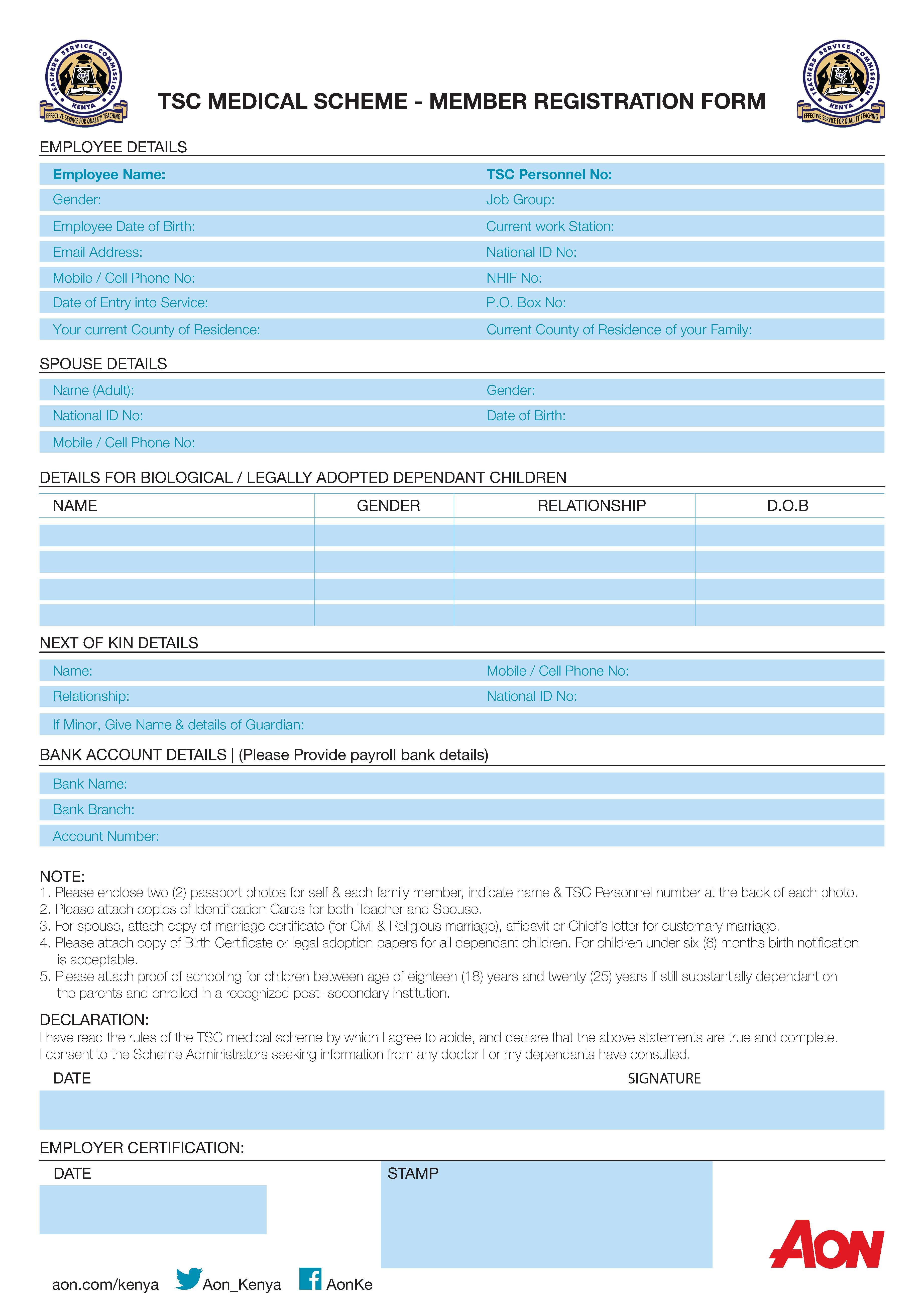 Teachers Service Commission Medical Scheme | Aon Kenya