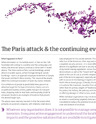 The Paris attack & the continuing evolution of terrorism