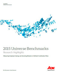 2015 Universe Benchmarks