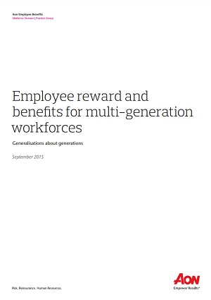 Employee reward and benefits for multi-generation workforces