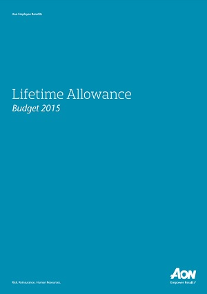 Lifetime Allowance Budget 2015