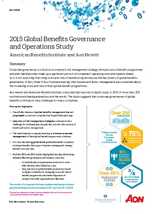 2015-16 Global Benefits Governance and Operations Study