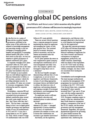 Governing global DC pensions