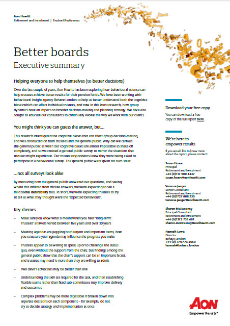 Better Boards Executive Summary