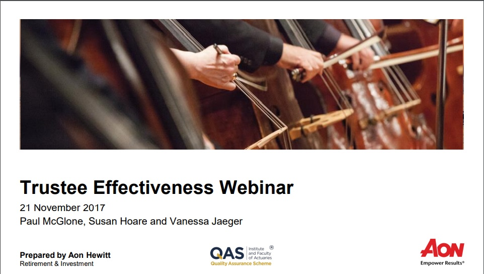 Trustee Effectivness webinar