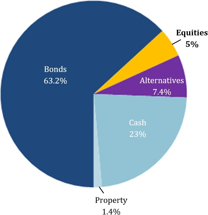 Breakdown of investment by type