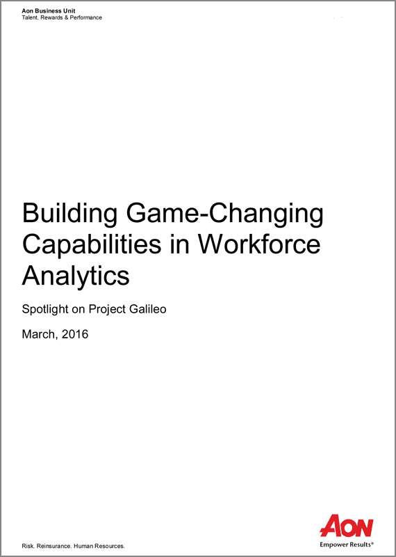 Building Game-Changing Capabilities in Workforce Analytics