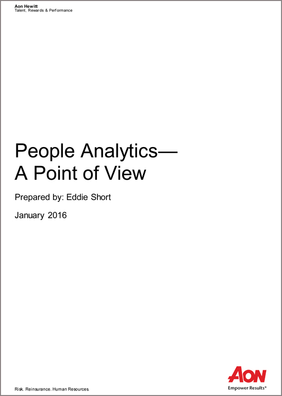 People Analytics-A Point of View