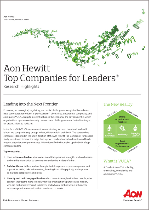 Aon Hewitt Top Companies for Leaders Highlights Report