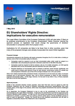 EU Shareholders' Rights Directive: implications for executive remuneration